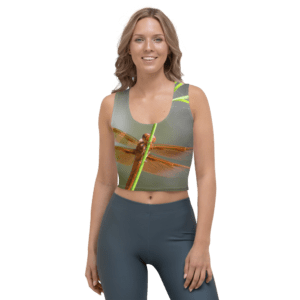 Smiling Dragonfly Fairy Crop Top