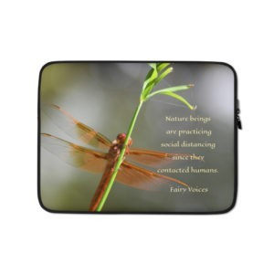 Laptop Sleeve Nature beings are practicing social distancing since they contacted humans.  Fairy Voices