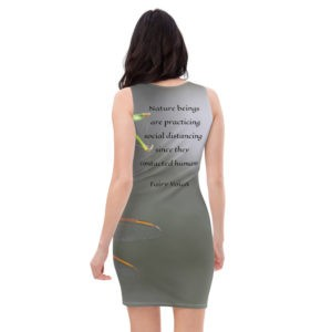 Nature beings are practicing social distancing since they contacted humans.Sublimation Cut & Sew Dress